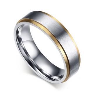 OPR0038 Dámský ocelový prsten, šíře 6 mm