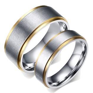 OPR0038 Ocelové snubní prsteny - pár