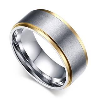 OPR0038 Pánský ocelový prsten, šíře 7 mm