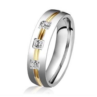 OPR0039-D-Zr Dámský ocelový prsten se zirkonem, šíře 5 mm