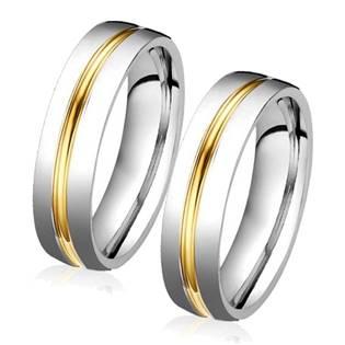 OPR0039 Ocelové snubní prsteny - pár