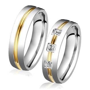 OPR0039-Zr Ocelové snubní prsteny - pár