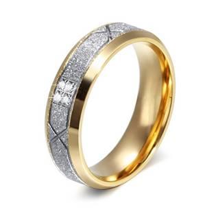 OPR0041 Dámský ocelový snubní prsten se zirkony