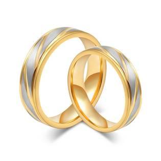 OPR0044 Ocelové snubní prsteny - pár