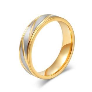 OPR0044 Ocelový snubní prsten, šíře 6 mm