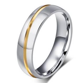 OPR0049 Pánský ocelový snubní prsten, šíře 6 mm