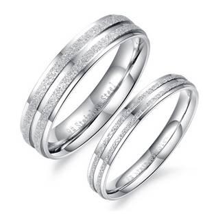 OPR0050 Ocelové snubní prsteny - pár
