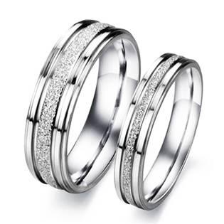 OPR0051 Ocelové snubní prsteny - pár