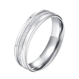 OPR0051 Pánský ocelový prsten, šíře 6 mm
