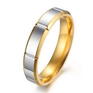 OPR0052 Dámský ocelový prsten, šíře 4 mm