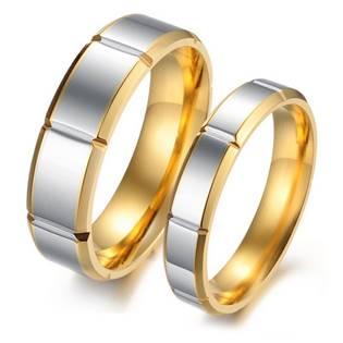 OPR0052 Ocelové snubní prsteny - pár
