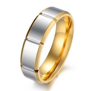 OPR0052 Pánský ocelový prsten, šíře 6 mm