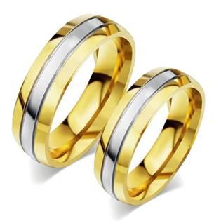 OPR0055 Ocelové snubní prsteny - pár