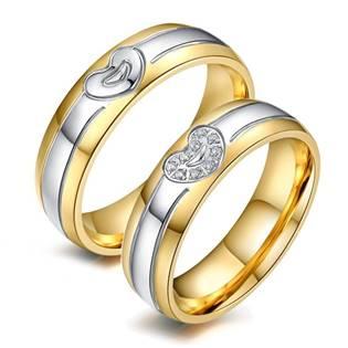OPR0055-S Ocelové snubní prsteny - pár