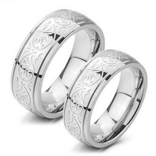OPR0056 Ocelové snubní prsteny - pár