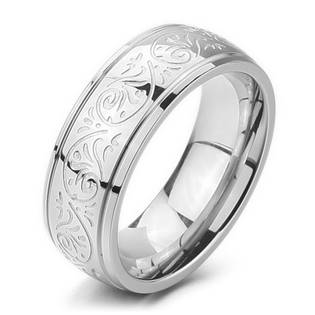 OPR0056 Pánský snubní prsten s ornamenty