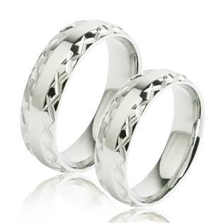 OPR0057 Ocelové snubní prsteny - pár