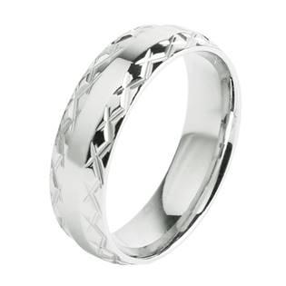 OPR0057 Pánský ocelový prsten, šíře 6 mm