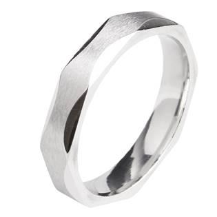 OPR0058 Dámský ocelový prsten, šíře 4 mm