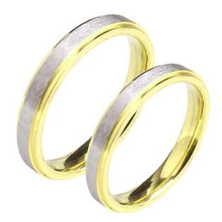 OPR0059 Ocelové snubní prsteny - pár