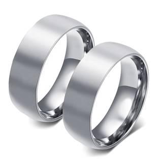 OPR0063 Ocelové snubní prsteny šíře 8 mm - pár
