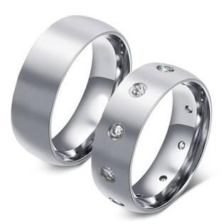 OPR0063-Zr Ocelové snubní prsteny - pár