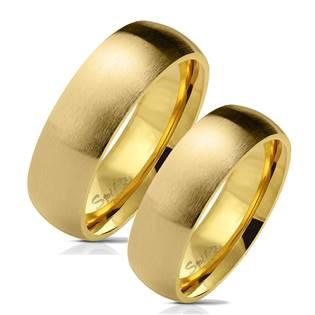 OPR0070 Zlacené ocelové snubní prsteny - pár
