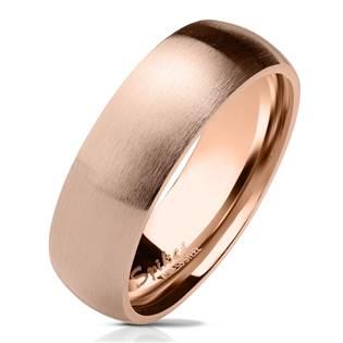 OPR0071 Dámský zlacený prsten matný