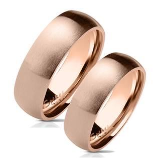 OPR0071 Zlacené ocelové snubní prsteny - pár