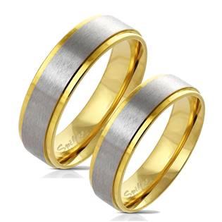 OPR0073 Zlacené ocelové prsteny - pár