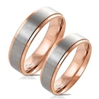 OPR0074 Zlacené ocelové prsteny - pár