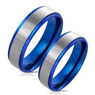 OPR0075 Modré ocelové prsteny - pár