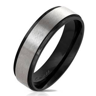 OPR0076 Dámský černý ocelový prsten