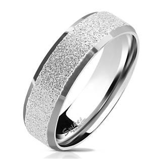OPR0077 Dámský ocelový prsten pískovný