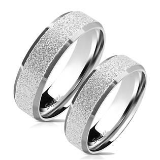 OPR0077 Ocelové snubní prsteny - pár