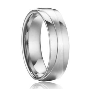 OPR0085 Pánský ocelový prsten, šíře 7 mm
