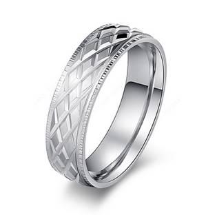 OPR0087 Dámský ocelový prsten, šíře 6 mm