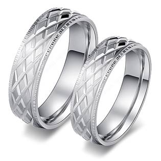 OPR0087 Ocelové snubní prsteny - pár