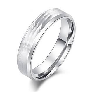 OPR0088 Dámský ocelový prsten, šíře 6 mm