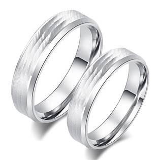 OPR0088 Ocelové snubní prsteny - pár