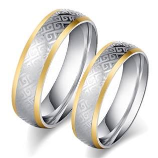 OPR0089 Ocelové snubní prsteny - pár
