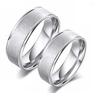 OPR0090 Ocelové snubní prsteny - pár