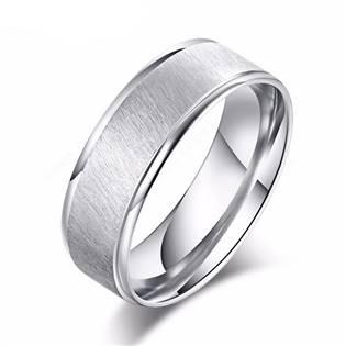 OPR0090 Pánský ocelový prsten, šíře 8 mm
