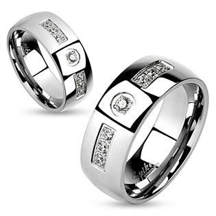 OPR0094 Ocelové snubní prsteny - pár