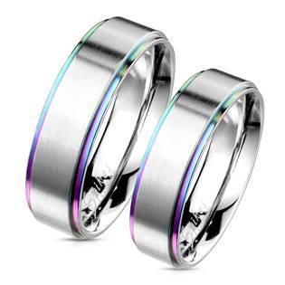 OPR0101 Snubní ocelové prsteny - pár