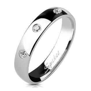 OPR1198 Dámský snubní prsten se 3mi zirkony