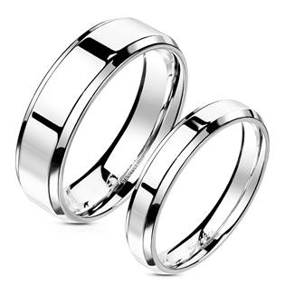 OPR1303 Snubní prsteny ocel - pár 4+6 mm