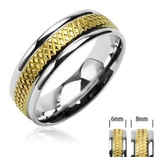 OPR1394 Snubní prsteny ocel - pár