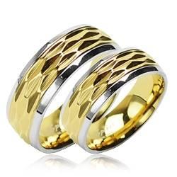 OPR1412 Snubní prsteny ocel - pár