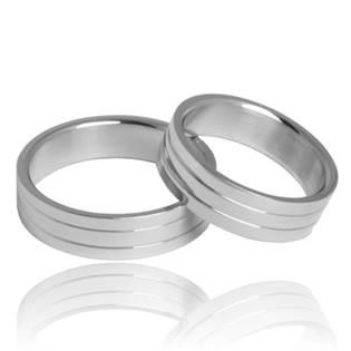 OPR1422 Snubní prsteny ocel - pár